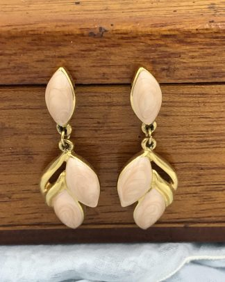 Vintage Trifari Marbled Lucite Earrings