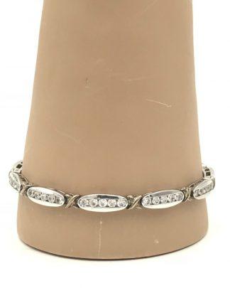 "Ladies Sterling Silver 925 Wedding Gift CZ Tennis Bracelet 7.5"" Cubic Zirconia"