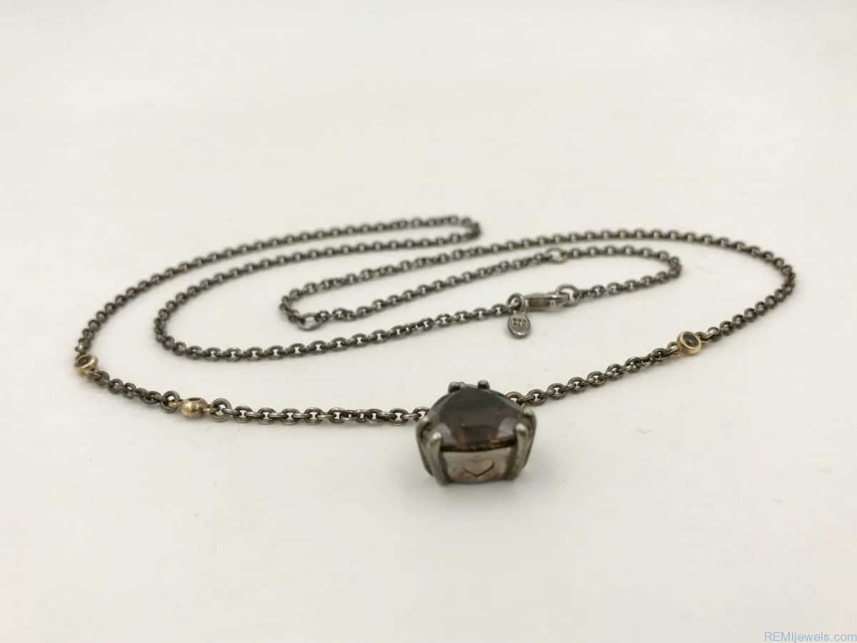0d6679b12 ... wholesale authentic pandora close to my heart adjustable sterling  silver necklace w smokey quartz bead charm