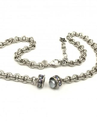 Kirks Folly South Sea Magnetic Enhancer Chain Necklace Silvertone