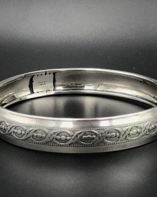 Vintage Sterling Silver Beau Bangle Bracelet