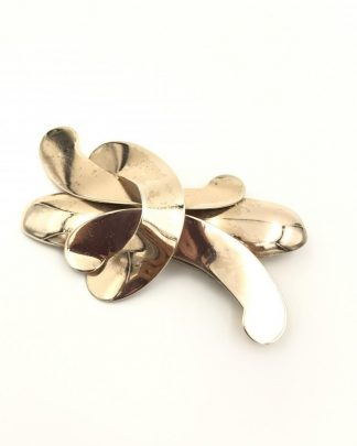 Signed Napier Sterling Silver Vermeil Brooch Pin Vintage