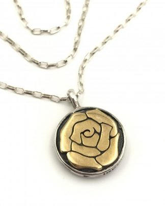 SILPADA Bronzed Rose Necklace N2430 Sterling Silver Necklace