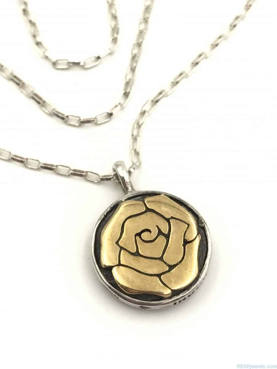 Zales Jewelry Necklaces >> SILPADA Bronzed Rose Necklace N2430 Sterling Silver Necklace