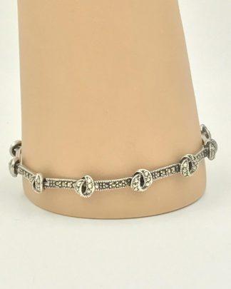 """Ladies Sterling Silver 925 bracelet 7.5"""" Marcasite"""