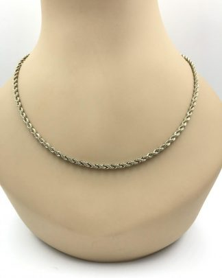 Real 14k Gold Filled Twisted Solid Rope Link Chain Necklace