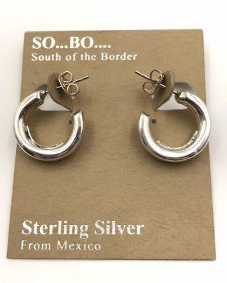 So Bo Designer Sterling Silver Open Circle Hollow Hoop Earrings