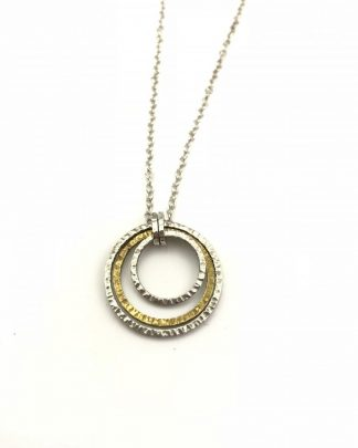 Silpada Inner Circles Sterling Silver 925 Brass Pendant Necklace - N2296