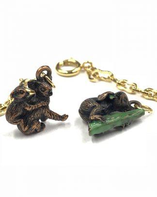 Joan Rivers Koala Pair Noah's Ark Charm Pendant Gold Plated Chain