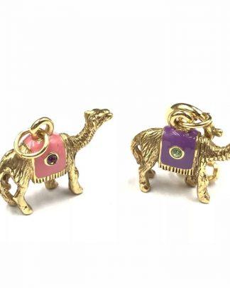 Joan Rivers Gold Plated Camel Charms Noah's Ark Enamel Crystal