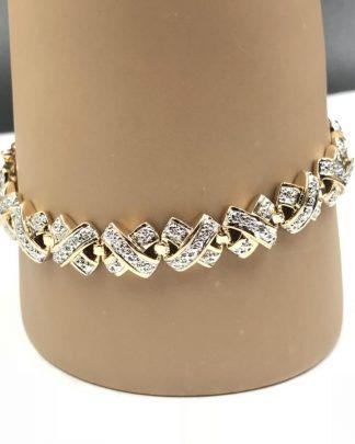 """Ross-Simons Gold Plated Sterling Silver 925 Bracelet 7"""""""