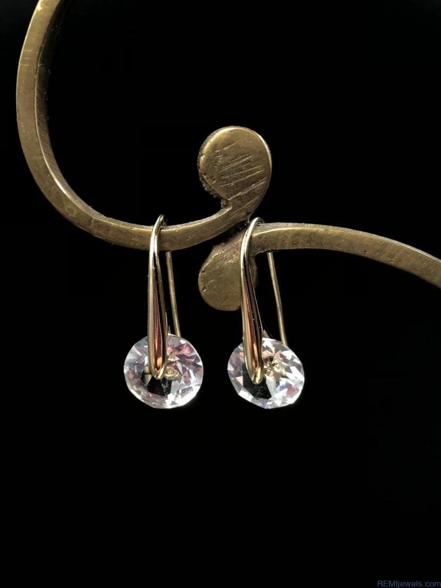 Mestige Swarovski Crystal Eclipse Earrings Rhodium Plated