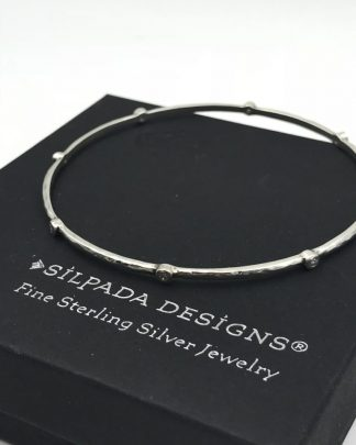 SILPADA Star Spangled Bangle Sterling Silver 925 Cubic Zirconia CZ B2701