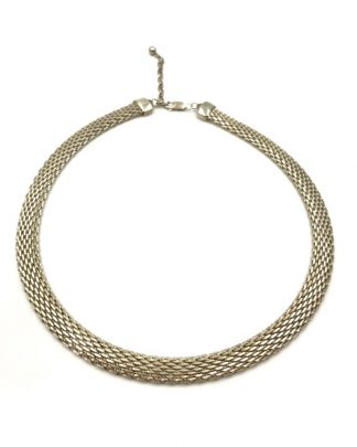 Godfrey Carter Designer Sterling Silver Mesh Choker Necklace GC 925
