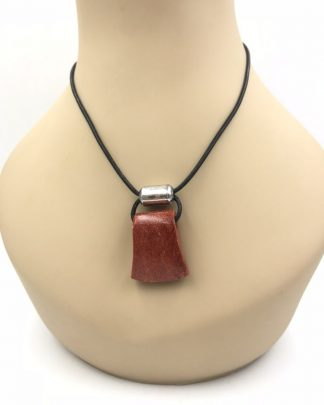 """The Silpada Black Leather Sterling Silver Sponge Coral Cardinal Rule Necklace 17"""" N0965"""