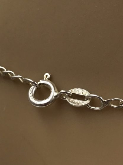 Italy Carezzio 925 Sterling Silver Fish Charm Necklace